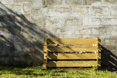 Wooden compost. Compost box make with wood material Stock Images