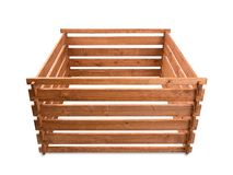 Wooden compost Royalty Free Stock Images