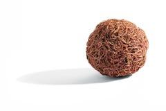 Wooden compressed spherical fibers Stock Photos