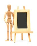 Wooden concept of mannequin Stock Photos