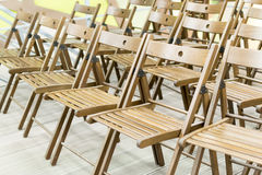 Wooden Conference Chairs Royalty Free Stock Photos
