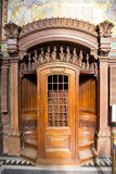 Wooden confessional in Basilica of Notre-Dame de Fourviere Royalty Free Stock Image