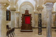 Wooden confessional Royalty Free Stock Image