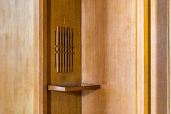 Wooden confessional Stock Photos