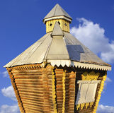 Wooden consruction. Wooden construction against the blue sky Stock Photo