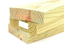 wooden constructing bar Stock Images