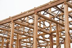 Wooden construction. Stock Photo