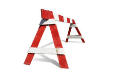 Wooden construction barrier Stock Image