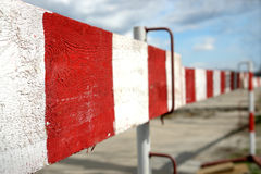 Wooden construction barriers Royalty Free Stock Photo