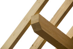 Wooden construction beams Stock Photos