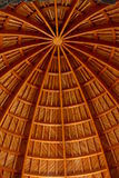 Wooden construction of a cupola Stock Image
