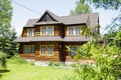 Wooden construction residential house, Zakopane Stock Photography