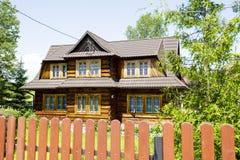 Wooden construction residential house, Zakopane Stock Photos