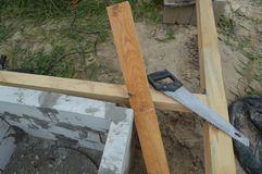 Wooden construction and units. Wooden construction and the units stock images