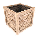Wooden container Stock Photo