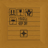Wooden container with cargo stamps Royalty Free Stock Photos