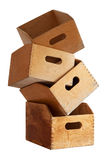 Wooden containers for holding file folders Royalty Free Stock Photo