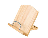 Wooden cook book stand Stock Images