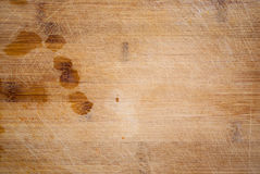 Wooden cooking board with cuts Stock Image