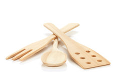 Wooden cooking utensils Stock Photography