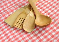 Wooden cooking utensils Stock Photo