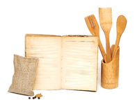 Wooden cooking utensils Royalty Free Stock Photos