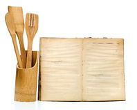 Wooden cooking utensils Stock Photos