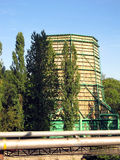 Wooden cooling tower Stock Image
