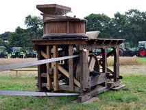 Wooden Corn-mill. On the Landtag Nordhorn Germany Royalty Free Stock Images