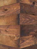 Wooden corner. Of the old russian izba royalty free stock photography