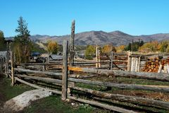 Wooden Corral.  Royalty Free Stock Photography