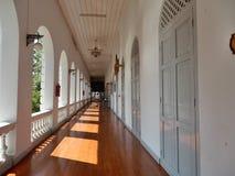 Wooden corridor Stock Photo