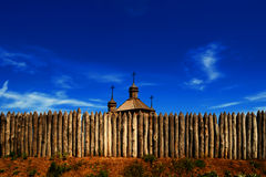 Wooden cossack church Stock Photography