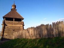 Wooden Cossack construction Royalty Free Stock Image