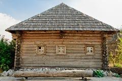 Wooden Cossack Kuren. Ukrainian Zaporozhye Sech. Wooden Cossack Kuren Royalty Free Stock Photos
