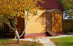 Wooden cottage Stock Photos