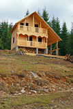 Wooden cottage in construction Stock Photo