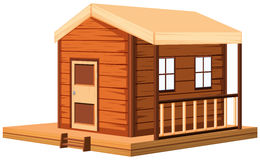 Wooden cottage in 3D design Royalty Free Stock Photo