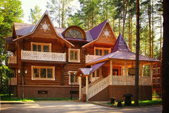 Free Wooden Cottage House At Summer Stock Images - 43899984