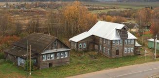 Wooden cottage house at autmn Stock Photos