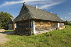 Wooden cottage house Royalty Free Stock Images