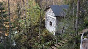 Wooden cottage. In Oulanka national park, Finland Royalty Free Stock Photos