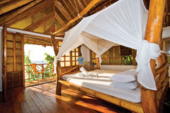 Wooden Cottage with Perfect Seaview. Wooden Cottage with Perfect Tropical Seaview Stock Photos
