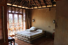 Wooden Cottage. To enjoy the Nilgiri Mountains. Bamboo Beds are really good Royalty Free Stock Image