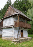 Wooden cottage in village. Wooden cottage in open-air museum of slovak village, Slovakia Stock Photo