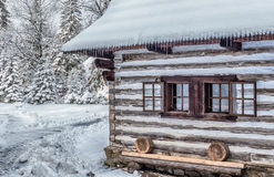 Wooden cottage in Zuberec, Slovakia Royalty Free Stock Photo