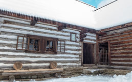 Wooden cottage in Zuberec, Slovakia. Wooden cottages in open-air musem at Zuberec, Slovakia royalty free stock photos