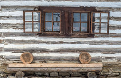 Wooden cottage in Zuberec, Slovakia Royalty Free Stock Photos