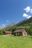 Wooden cottages in the Alps Stock Photography