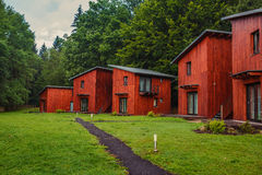 Wooden cottages Royalty Free Stock Images